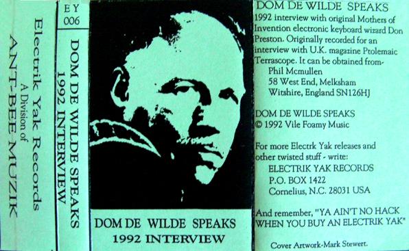 Dom de Wilde Speaks Cover